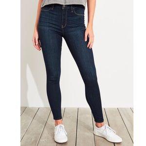 HOLLISTER Cleam Hem Jean Legging Dark Wash 3S